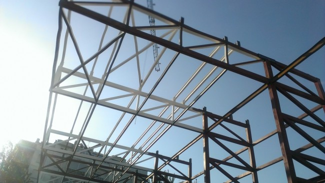 Placed the Cantilever of Sport Centre