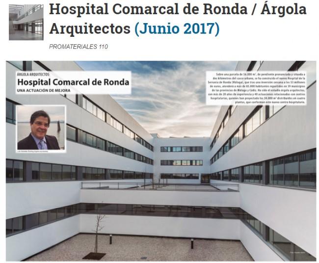 Promateriales entrevista a Luis González Sterling en relación al Hospital de Ronda